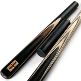 Riley England 3/4 Snooker Cue - Ebony Butt 9.5mm Tip 145cm - Black/Dark Wood/Maple