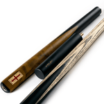 Riley England 3/4 Snooker Cue - Ebony Butt 9.5mm Tip 145cm - Black/Brown Exotic Wood
