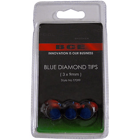 BCE Blue Diamond 9mm Tip 3 Pack