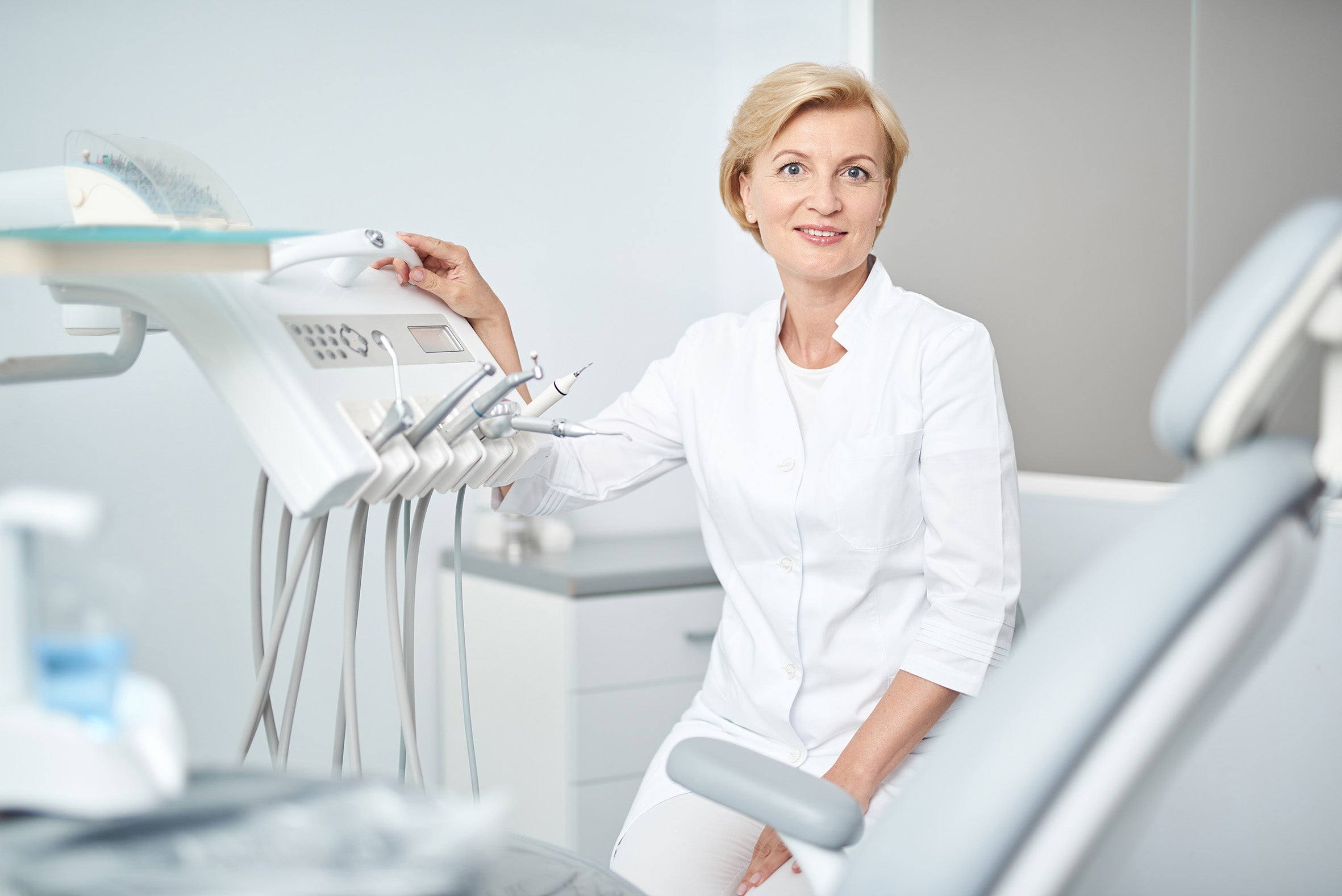 Female Dentist at her clinic
