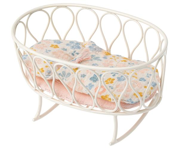 Maileg - Cradle with Sleeping Bag, Micro Off-white - Two Little Birds Boutique