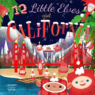 12 Little Elves Visit California - Hardback Book - Two Little Birds Boutique