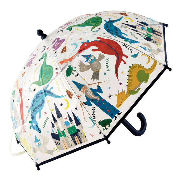 Floss and Rock - Spellbound Colour Changing Clear Umbrella - Two Little Birds Boutique