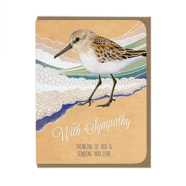Amy Rose - Sympathy Sandpiper Card - Two Little Birds Boutique