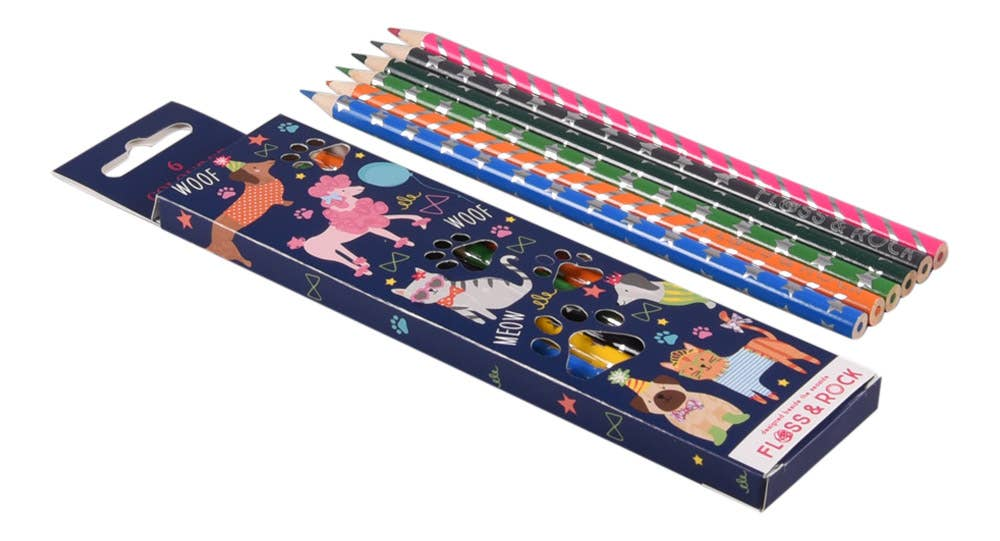 Floss and Rock - Pets pack of 6 Pencils