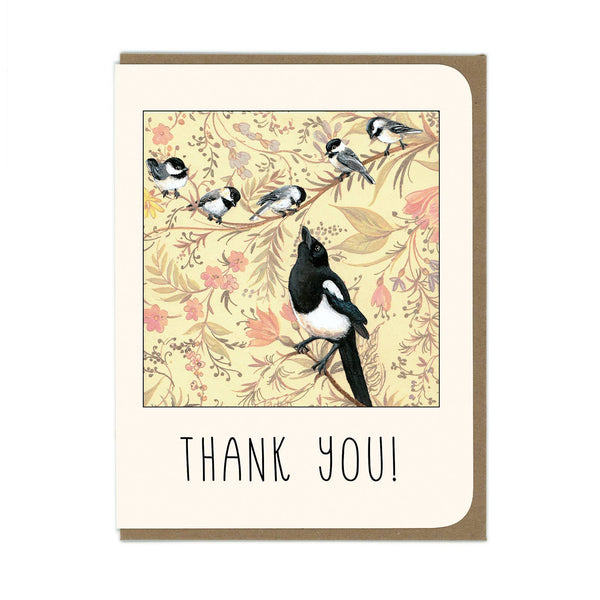 Amy Rose - Thank You Magpie Card - Two Little Birds Boutique