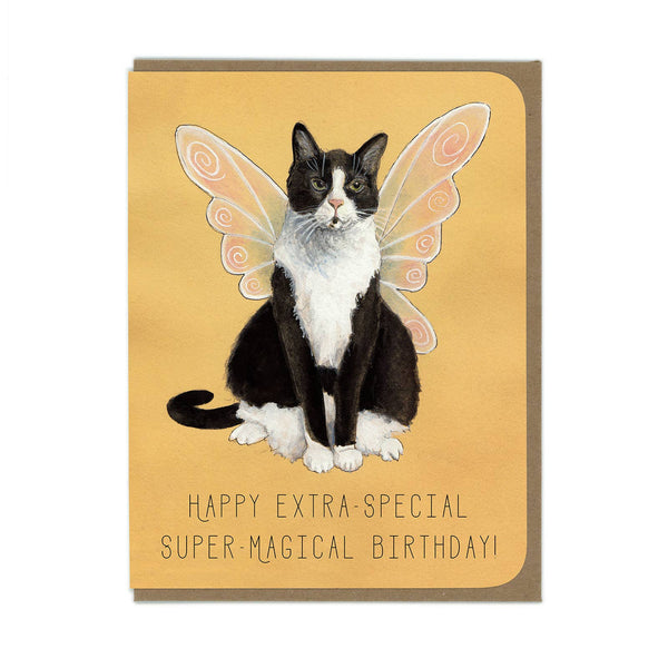 Amy Rose -  Fairy Cat Greeting Card - Two Little Birds Boutique