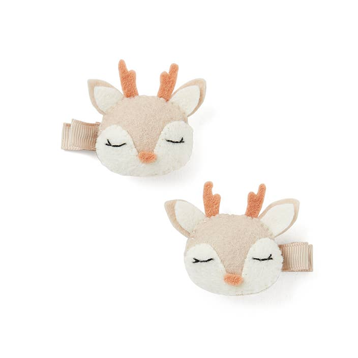 Elegant Baby - 2Pk Fawn Barrettes - Two Little Birds Boutique