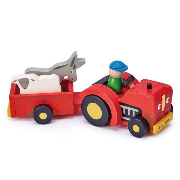Tender Leaf Toys- Tractor and Trailer - Two Little Birds Boutique
