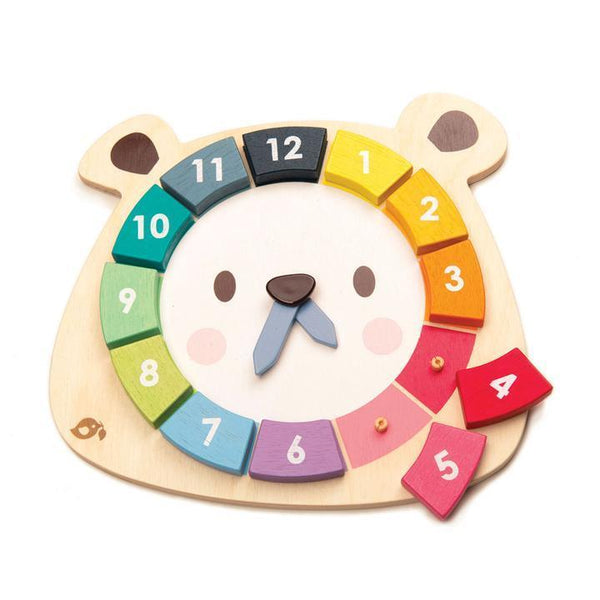 Tender Leaf Toys- Bear Colours Clock - Two Little Birds Boutique