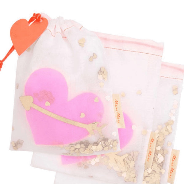 Meri meri - 3 heart shaker gift bags - Two Little Birds Boutique