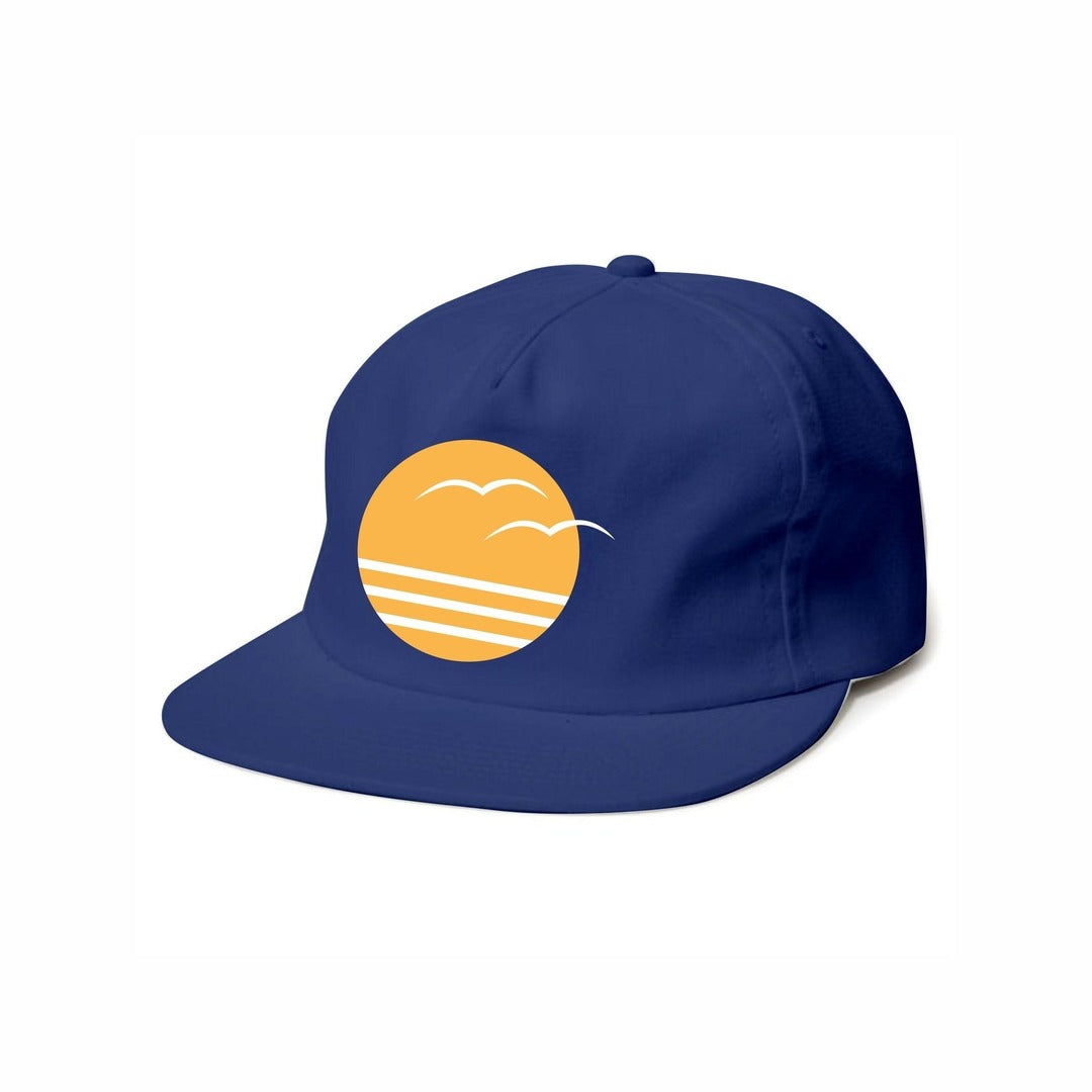 Tiny Whales - Coastal Navy Snapback Hat - Two Little Birds Boutique