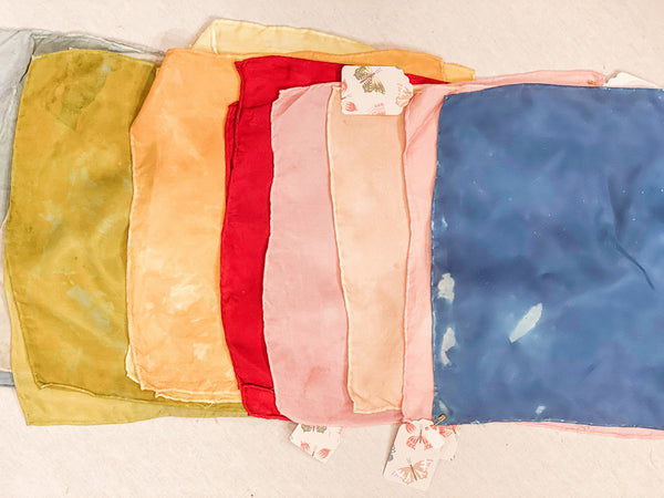 Colors of Nature - Naturally Dyed Silks - Hankie - Two Little Birds Boutique