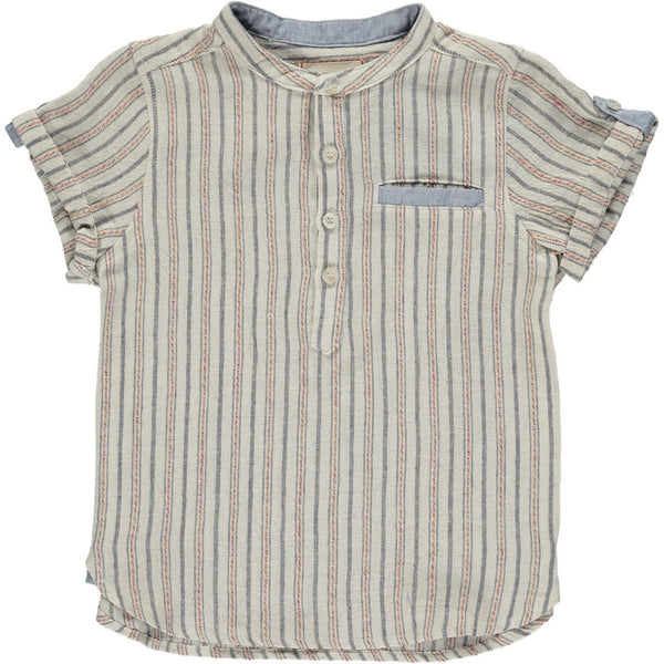 Me & Henry - Black & Red Stripe Round Neck Shirt - Daddy & Me - Two Little Birds Boutique