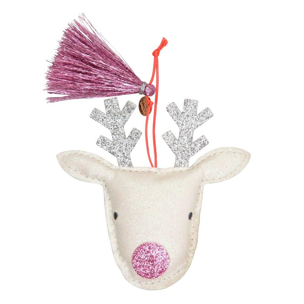 Meri Meri - Reindeer Glitter Fabric Tree Decoration - Two Little Birds Boutique