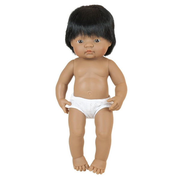 "Miniland - Baby Doll Hispanic Boy (38 cm  15"")"