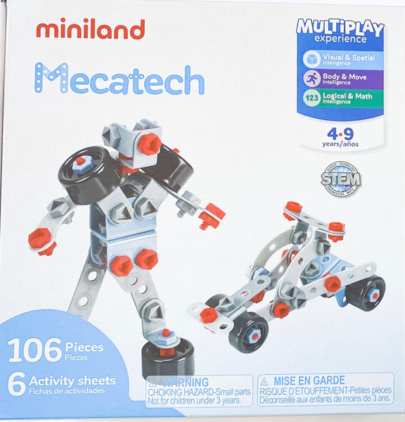 Miniland - Multiplay Experience Activity Set - Mecatech - Two Little Birds Boutique
