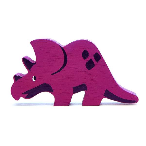 Tender Leaf - Wooden Dinosaurs - Triceratops - Two Little Birds Boutique