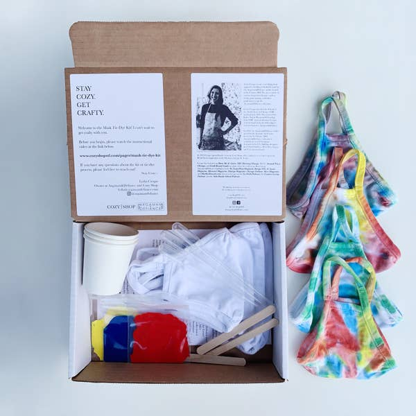 Argaman & Defiance - DIY Tie-Dye Mask Kit - Two Little Birds Boutique