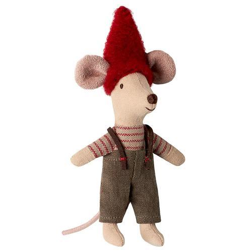 Maileg - Christmas Mouse in Suitcase, Little Brother - Two Little Birds Boutique