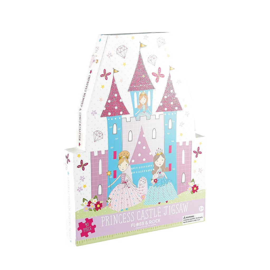 Floss and Rock - Princess 40pc Jigsaw with Shaped Box - Two Little Birds Boutique