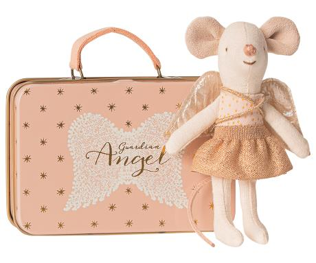 Maileg - Guardian Angel In Suitcase, Little Sister Mouse - Two Little Birds Boutique