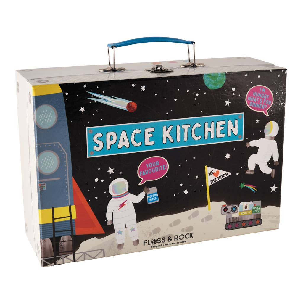 Floss and Rock - Space Tin Kitchen Set in Rectangular Case