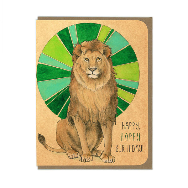 Amy Rose - Lion Greeting Card - Two Little Birds Boutique