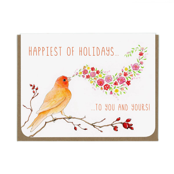 Amy Rose - HOLIDAY Canary Greeting Card - Two Little Birds Boutique