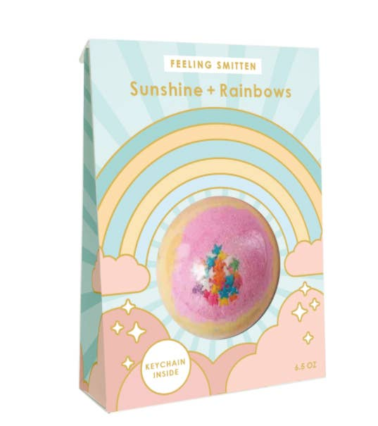 Feeling Smitten - Sunshine + Rainbows - Surprise Key Chain Bath Bomb - Two Little Birds Boutique