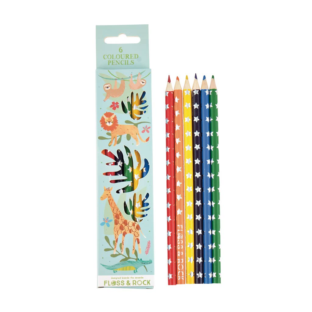 Floss and Rock - Jungle pack of 6 Pencils - Two Little Birds Boutique