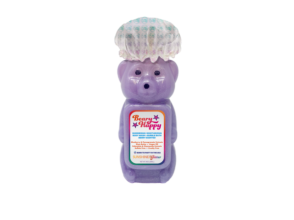 Sunshine & Glitter - Beary Happy Shimmering Body Wash and Bubble Bath - Two Little Birds Boutique