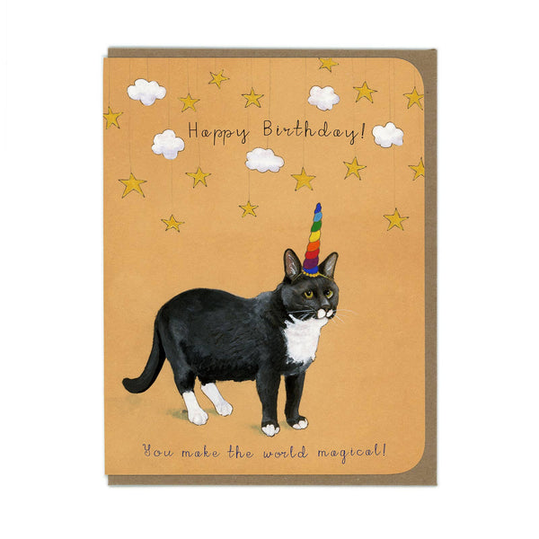 Amy Rose - Birthday Cat Unicorn Card - Two Little Birds Boutique