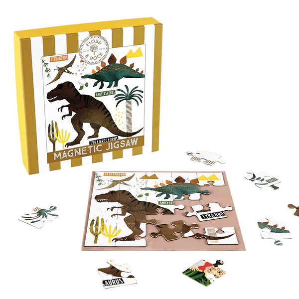 Floss & Rock - Dinosaur 25 PC Magnetic Jigsaw - Two Little Birds Boutique