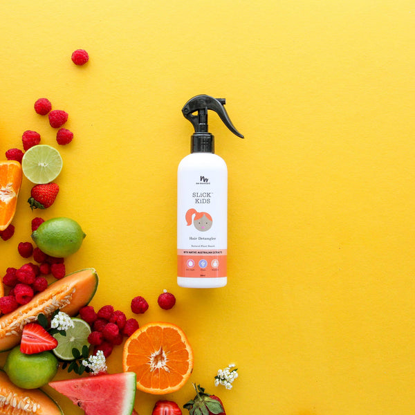 No Nasties Kids - NATURAL PLANT BASED HAIR DETANGLER IN MANDARIN AND GRAPE - Two Little Birds Boutique
