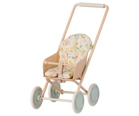 Maileg - Stroller Micro - Powder - Two Little Birds Boutique