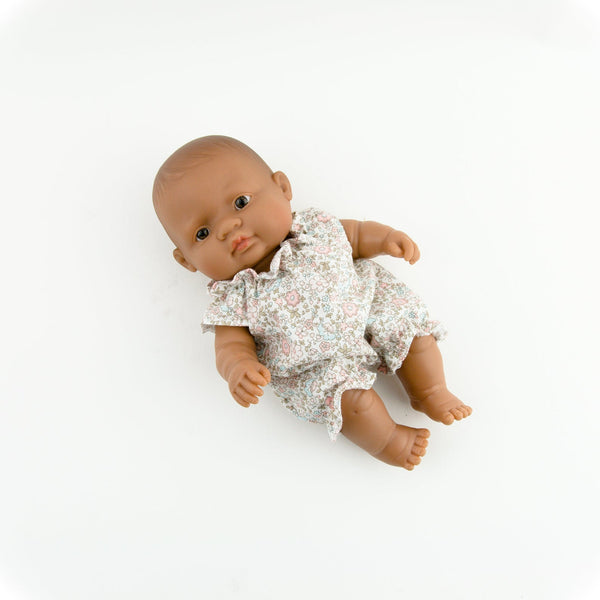 Doll Clothing - Floral Cotton Romper - Two Little Birds Boutique