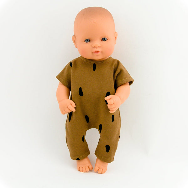 Doll Clothing - Spotted Brown Romper