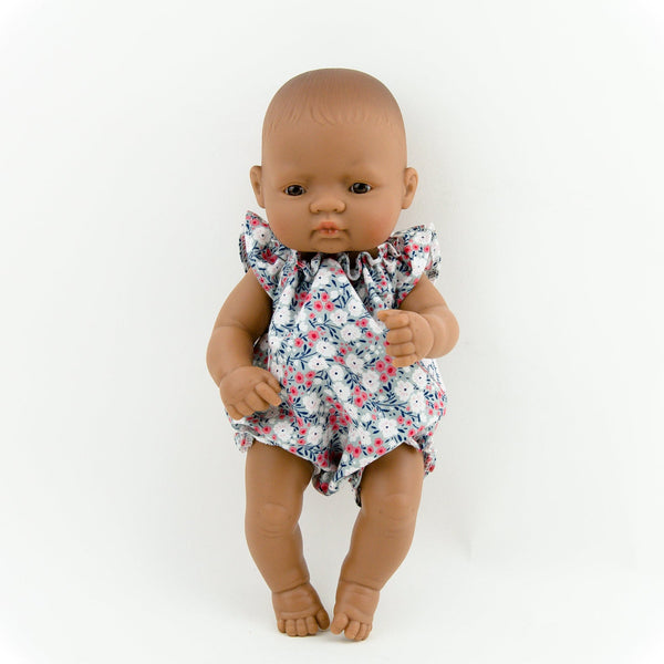 Handmade Doll Clothing - Cotton Floral Romper - Two Little Birds Boutique