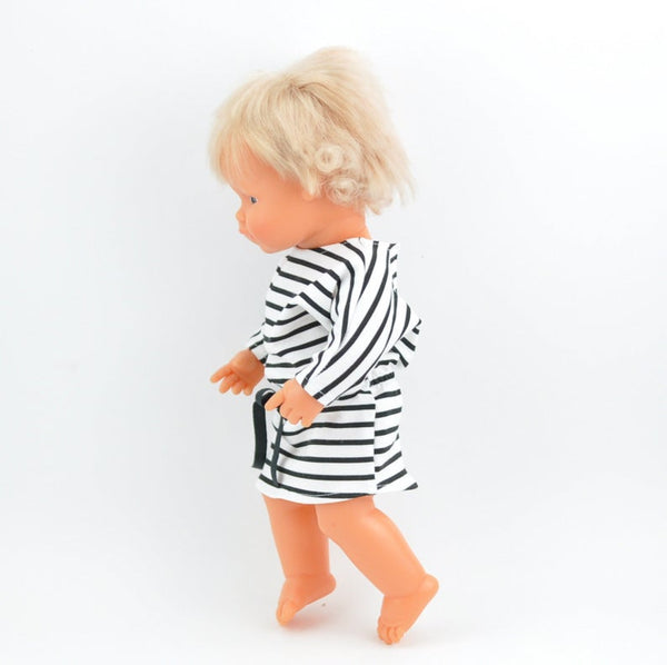 Doll Clothing - Striped Dress - Two Little Birds Boutique