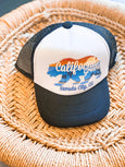 Grom Squad - Cali Grown - Nevada City - Black and White Trucker Hat - Two Little Birds Boutique
