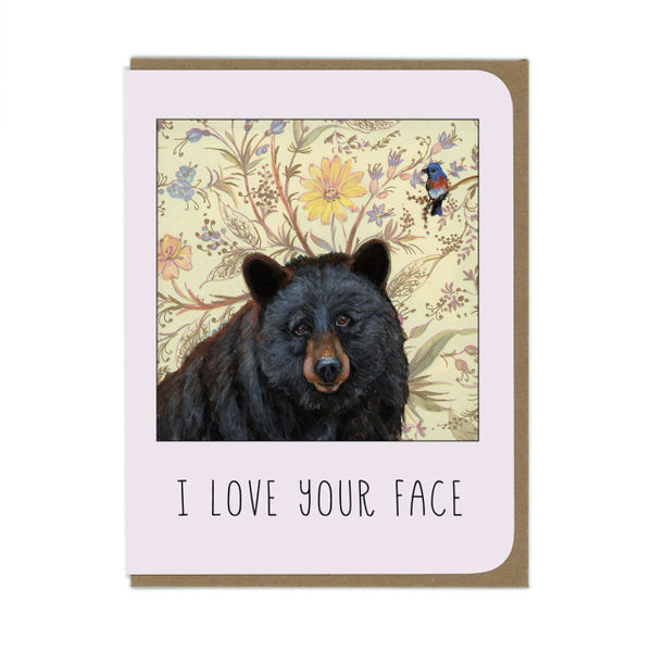 Amy Rose Card - I Love Your Face - Two Little Birds Boutique