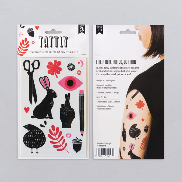 Tattly - Miscellany Tattoo Sheet - Two Little Birds Boutique