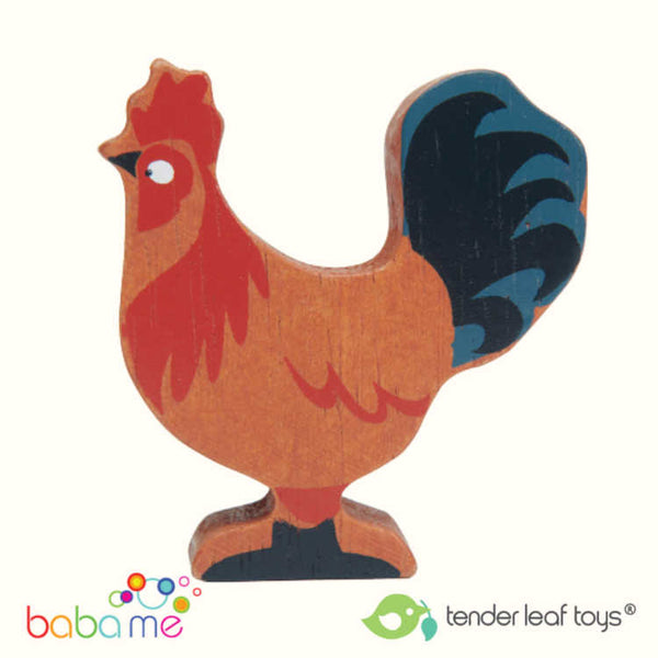 Tender Leaf - Farmyard Animals - Rooster - Two Little Birds Boutique