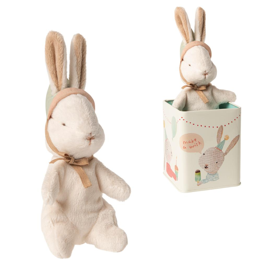 Maileg- Happy Day Bunny in a Box - Small - Two Little Birds Boutique