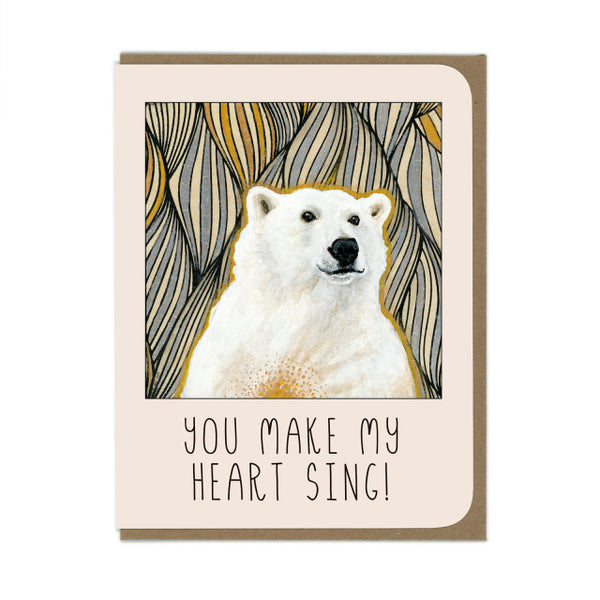 Amy Rose - You Make My Heart Sing Card - Two Little Birds Boutique