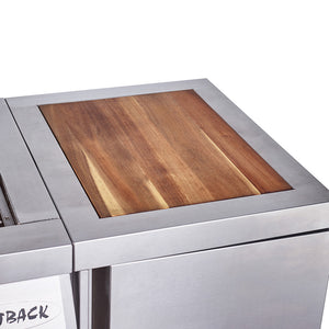 Signature II 4 and 6 Burner Cylinder Holder with Chopping Board to fit 2020 models - Stainless Steel
