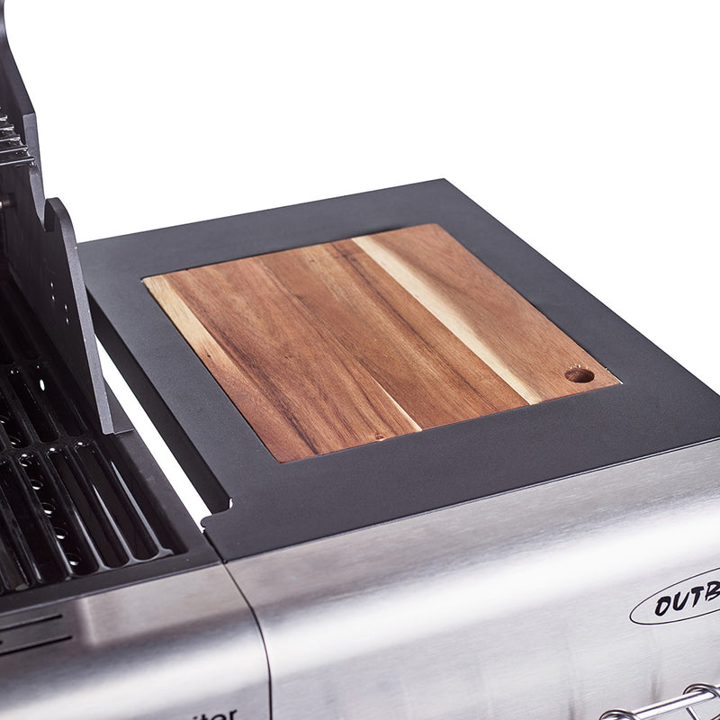 Jupiter 4 Burner Hybrid with Chopping Board - Blue