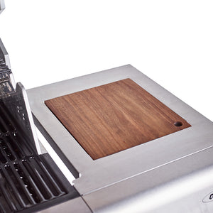 Jupiter 4 Burner Hybrid with Chopping Board - Stainless Steel