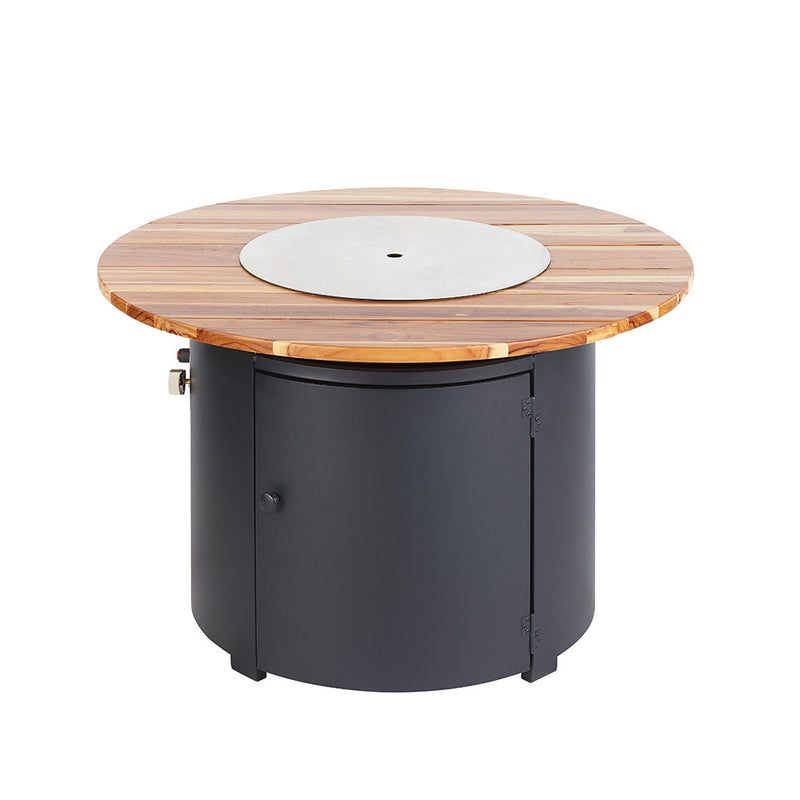 NEW Sherwood Gas Fire Pit with Timber Table - OUT370771